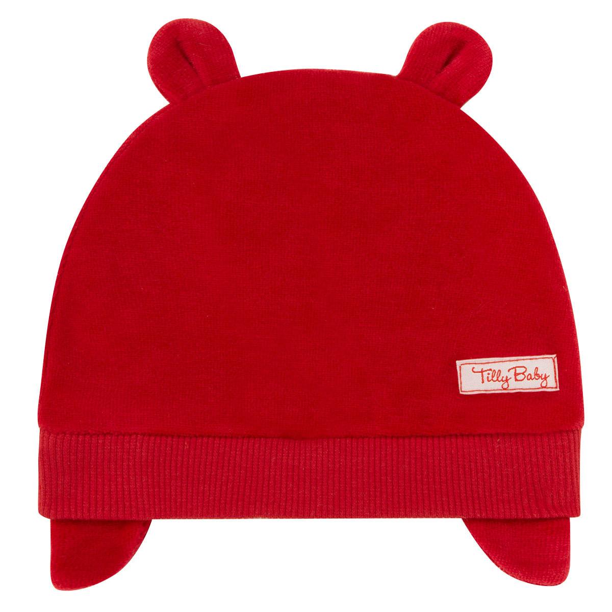de0100b3c6d20 Touca Orelhinha para bebe em plush Vermelha Tilly Baby no Bebefacil ...