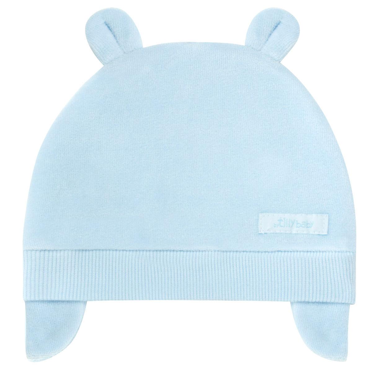 08ade63c7df6e Touca Orelhinha para bebe em plush Azul - Tilly Baby no Bebefacil ...