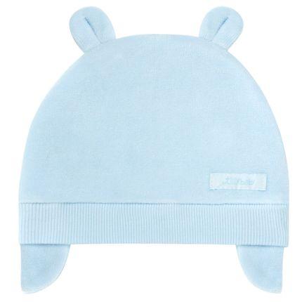 Touca Orelhinha para bebe em plush Azul - Tilly Baby no Bebefacil ... f22ebd05dbf
