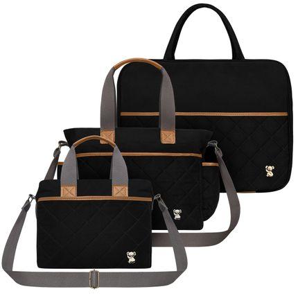 MSCB9045-BHM9045-FTHP9045--id-69645--Bolsa-Maternidade-Kit-Casual-Sarja-Preto---Classic-for-Baby-Bags