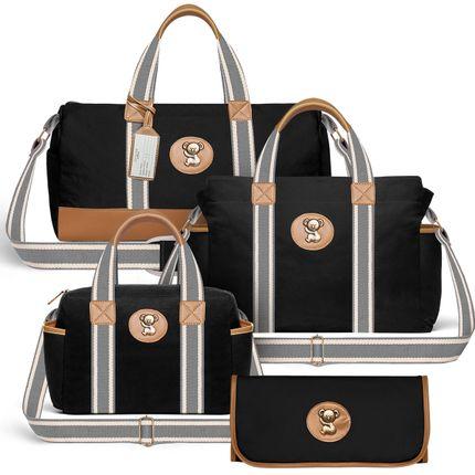 MA9045-BSA9045-FSGC9045-TCSA9045--id-54012--Bolsas-Maternidade-Kit-Adventure-Sarja-Preto---Classic-for-Baby-Bags