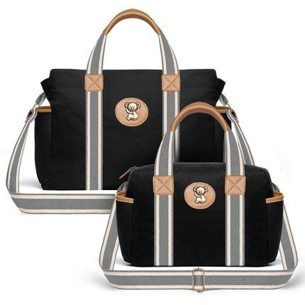 Bolsas-Maternidade-Kit-Adventure-Sarja-Preto---Classic-for-Baby-Bags