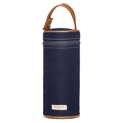 PMSA9043-Bolsa-Maternidade-Porta-Mamadeira-Sarja-Marinho---Classic-for-Baby-Bags