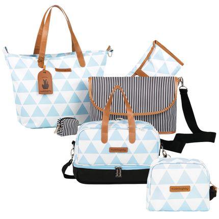 MB12MAN398.04---MB12MAN205.04---MB12MAN269.04-Bolsa-Maternidade-Kit-3-pecas-Manhattan-Azul---Masterbag