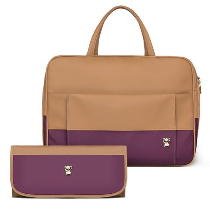 MCF9092-TCCF9092-Bolsa-Maternidade-Kit-2-Pecas--Due-Colors-Uva---Classic-for-Baby-Bags