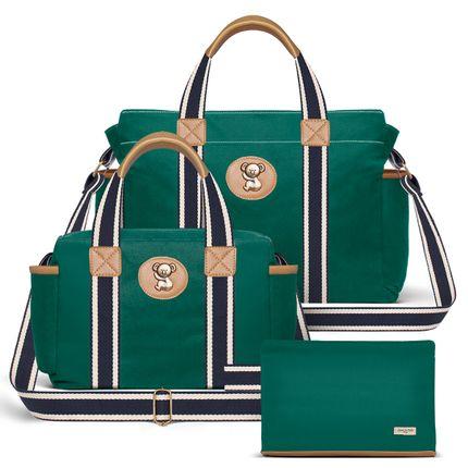 BSA1230-FSGC1230-FA1230--ID65403---Bolsa-Maternidade-Kit-3-pecas-Adventure-Verde---Classic-for-Baby-Bags
