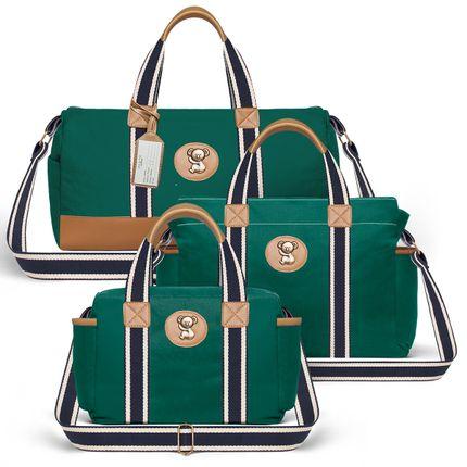 MA1230-BSA1230-FSGC1230--ID-65402---Bolsa-Maternidade-Kit-3-pecas-Adventure-Verde---Classic-for-Baby-Bags