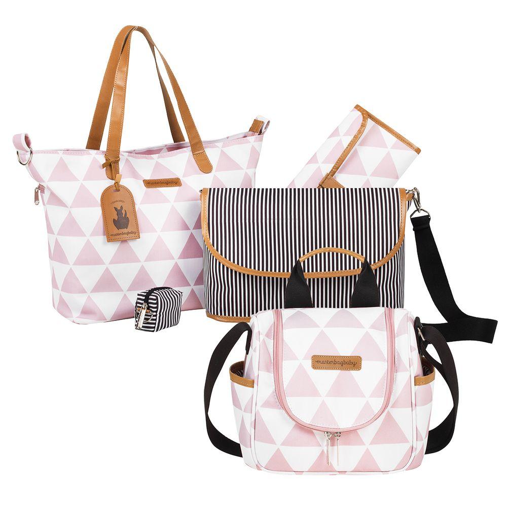 MB12MAN398.03---MB12MAN238.03-Bolsa-Maternidade-Manhattan-Rosa-Kit-2-pecas---Masterbag