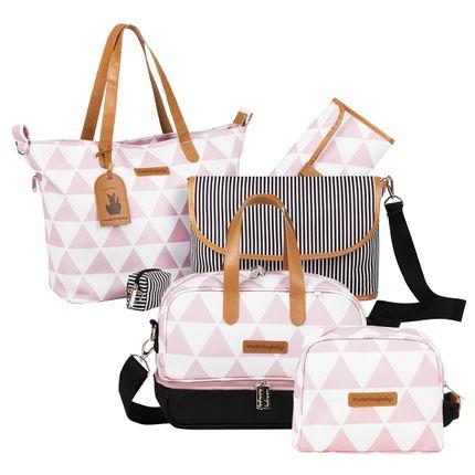 MB12MAN398.03---MB12MAN205.03---MB12MAN269.03-Bolsa-Maternidade-Manhattan-Rosa-Kit-3-pecas---Masterbag