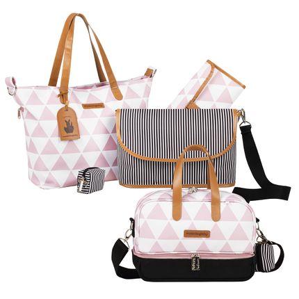 MB12MAN398.03---MB12MAN205.03-Bolsa-Maternidade-Manhattan-Rosa-Kit-2-pecas---Masterbag
