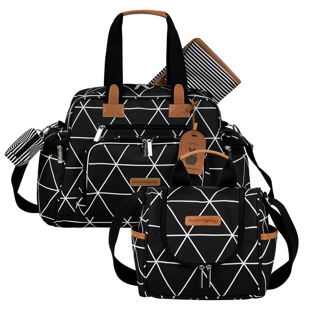 MB12MAN299.02---MB12MAN238.02--ID-76043--Bolsa-Maternidade-Manhattan-Preta-Kit-2-pecas---Masterbag