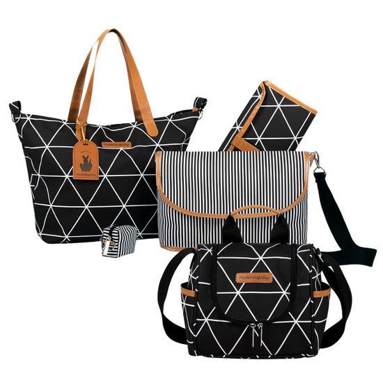 MB12MAN398.02---MB12MAN238.02--ID76059--Bolsa-Maternidade-Manhattan-Preta-Kit-2-pecas---Masterbag