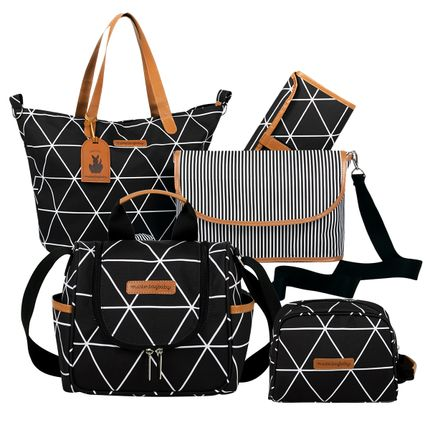 MB12MAN398.02---MB12MAN238.02---MB12MAN269.02--ID76057--Bolsa-Maternidade-Manhattan-Preta-Kit-3-pecas---Masterbag