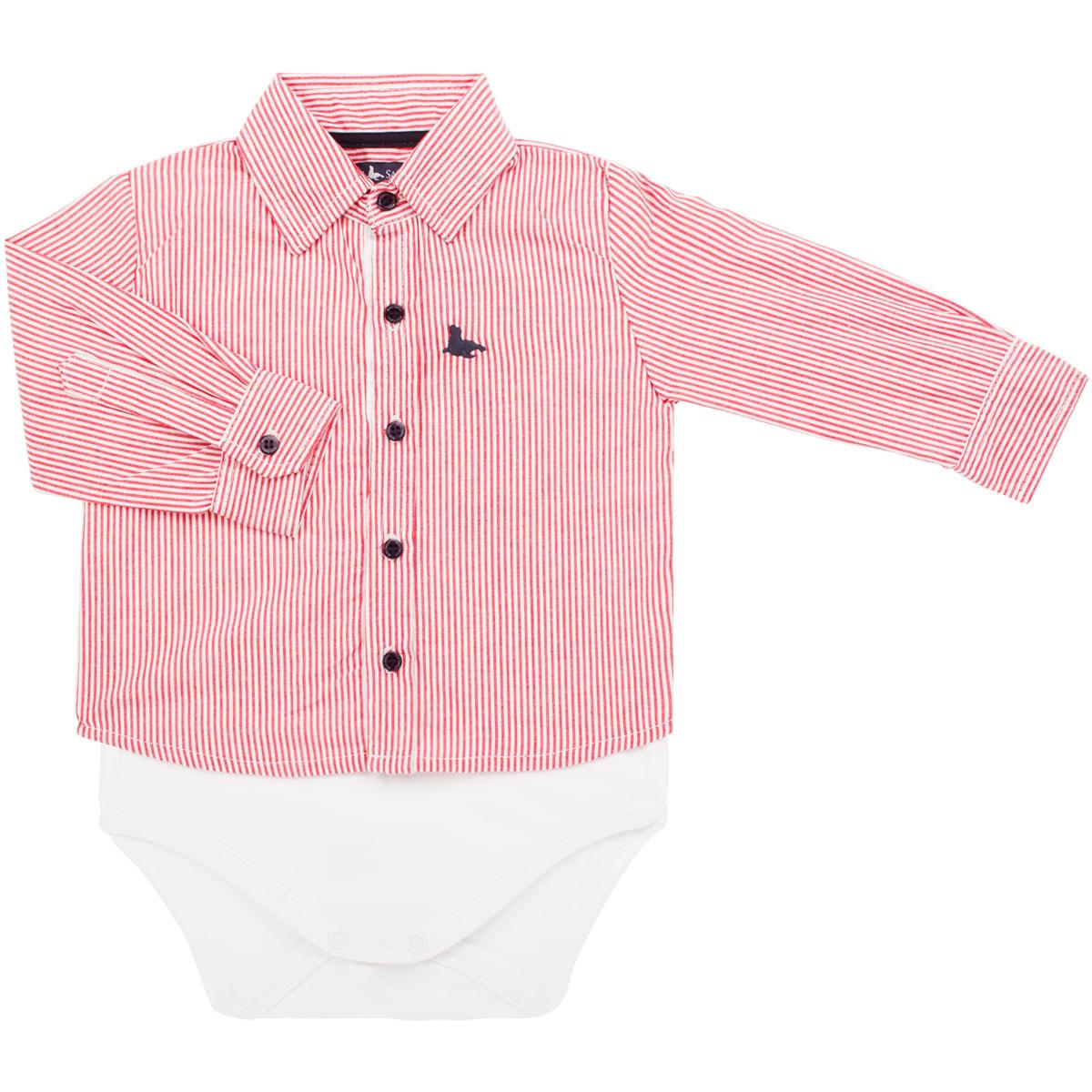15b2144ca Body Camisa para bebe em tricoline Listras Mini Sailor no Bebefacil ...