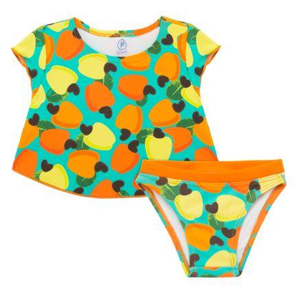 BB3254_A-moda-praia-menina-biquini-camiseta-em-lycrra-caju-Cara-de-Crianca