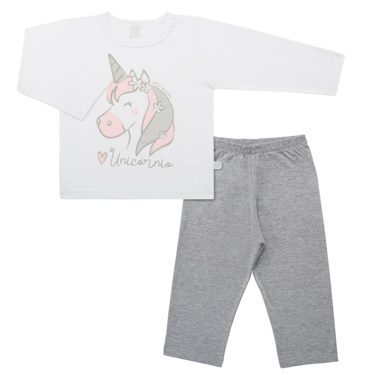 752892b91f Pijama longo em malha Unicórnio Cara de Sono no Bebefacil a sua loja de  roupas enxoval e acessorios para bebes - bebefacil