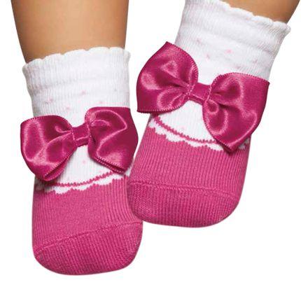 PK6935L-PK-moda-bebe-menina-meia-sapatilha-laco-pink-Puket