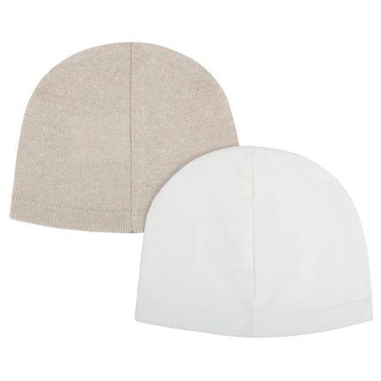 10304567_A-moda-bebe-menino-menina-kit-2-toucas-em-tricot-branca-caqui-Petit