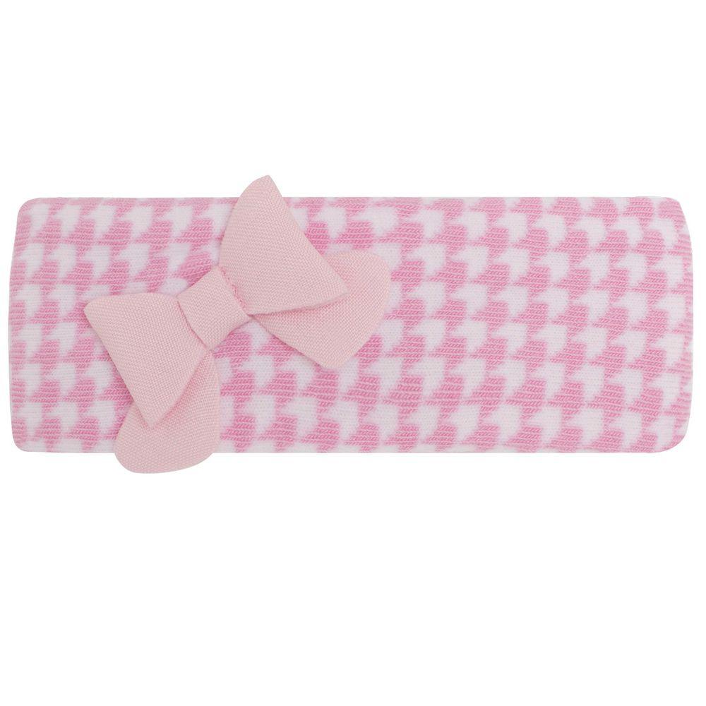 PK2234D-R_A-moda-bebe-menina-faixa-de-cabelo-meia-pied-poule-rosa-Puket-no-Bebefacil-loja-de-roupas-e-enxoval-para-bebes