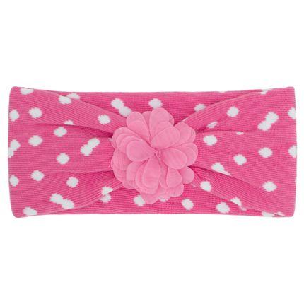 PK2234D-RF_A-moda-bebe-menina-faixa-de-cabelo-meia-flor-pink-Puket-no-Bebefacil-loja-de-roupas-e-enxoval-para-bebes