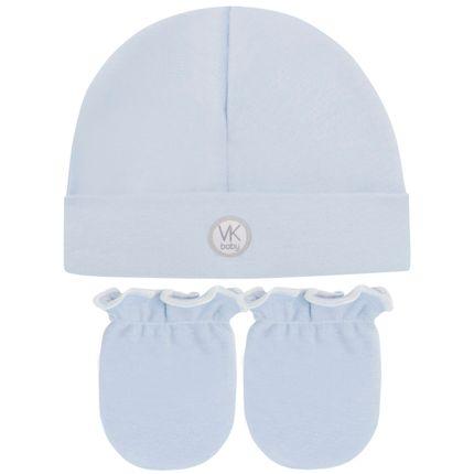 46106023_A-moda-bebe-menino-kit-touca-par-de-luvas-algodao-egipcio-azul-VK-baby-no-Bebefacil-loja-de-roupas-e-enxoval-para-bebes