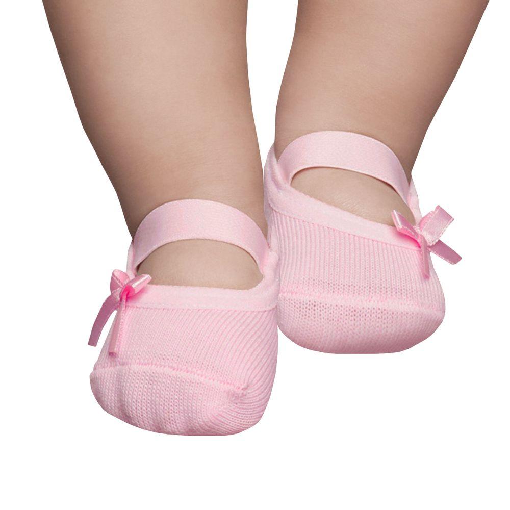 PK6726L-RS-moda-bebe-menina-meia-sapatinha-rosa-laco-puket-no-Bebefacil-loja-de-roupas-e-enxoval-para-bebes