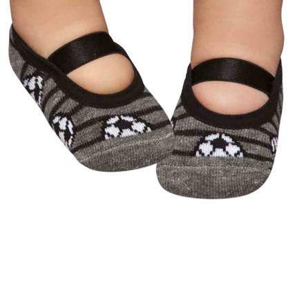 PK6926D-FT-moda-bebe-menino-meia-sapatilha-mescla-futebol-puket-no-Bebefacil-loja-de-roupas-e-enxoval-para-bebes