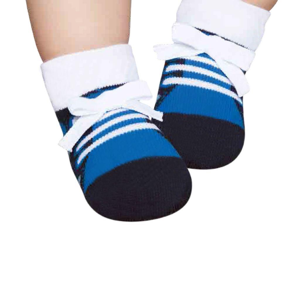 PK6913-AZ-moda-bebe-menino-meu-primeiro-sapatinho-tenis-azul-marinho-puket-no-Bebefacil-loja-de-roupas-e-enxoval-para-bebes