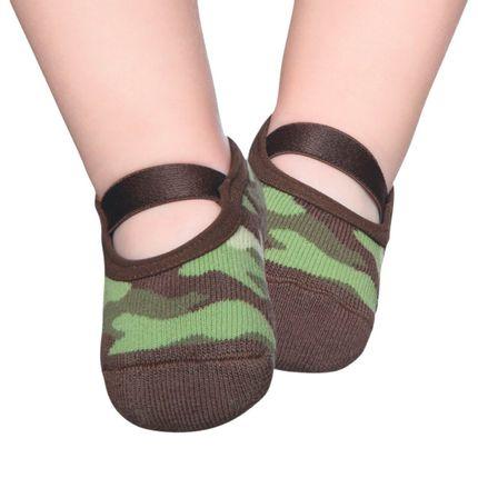 PK8239D-CM-moda-bebe-menino-meia-sapatilha-marrom-camuflada-puket-no-Bebefacil-loja-de-roupas-e-enxoval-para-bebes