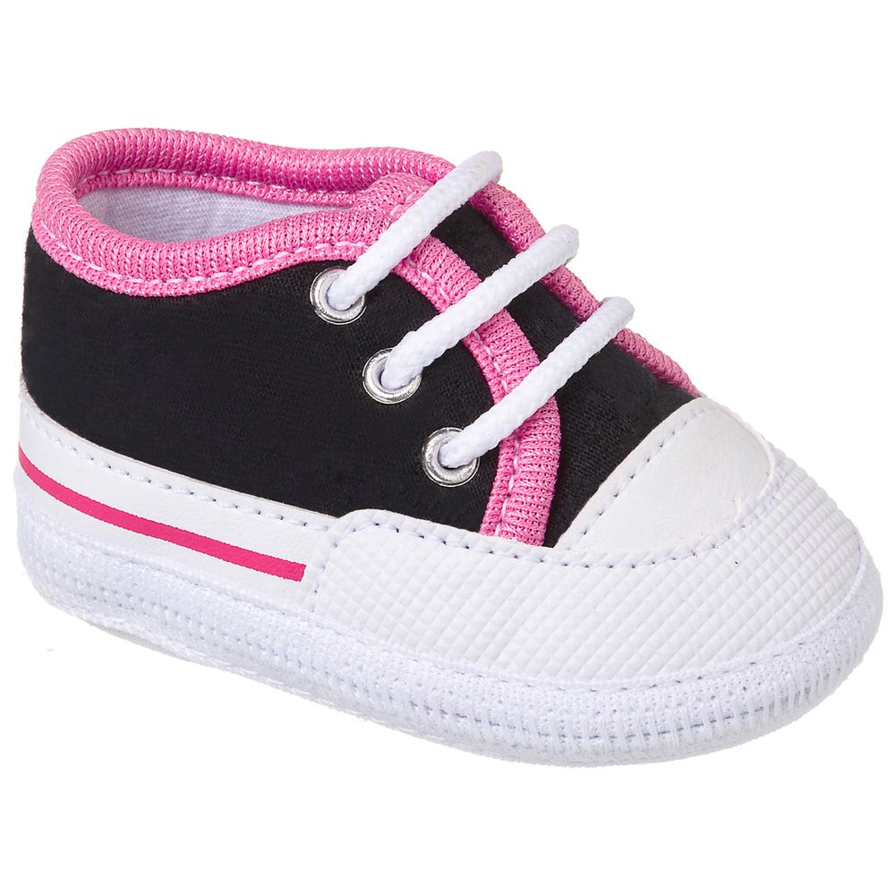 KB3154-130_A-Tenis-para-bebe-pink-preto-no-Bebefacil-loja-roupas-e-enxoval-bebe