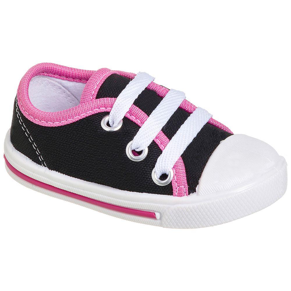 KB24001-130_A-Tenis-para-bebe-pink-preto-no-Bebefacil-loja-roupas-e-enxoval-bebe