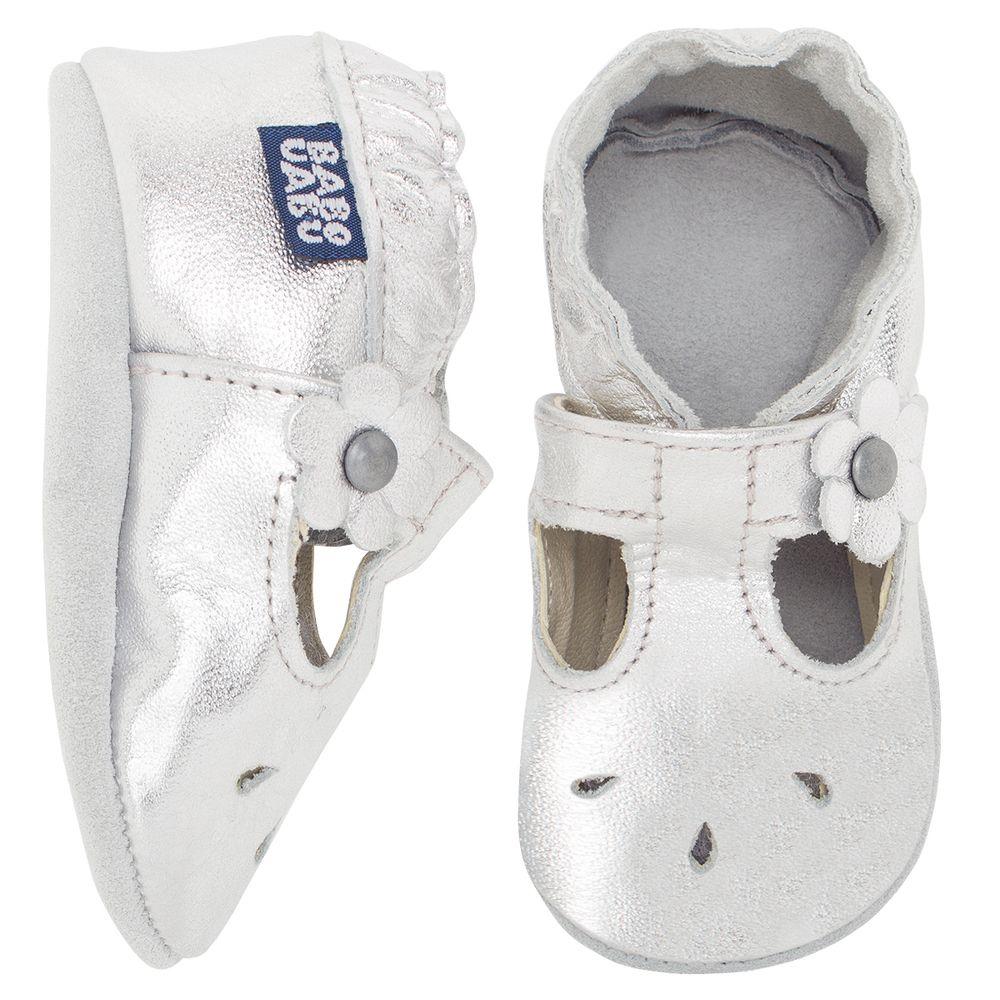 BABO35_A-sapatilha-boneca-bebe-menina-em-couro-eco-prata-no-Bebefacil-loja-de-roupas-e-enxoval-para-bebes