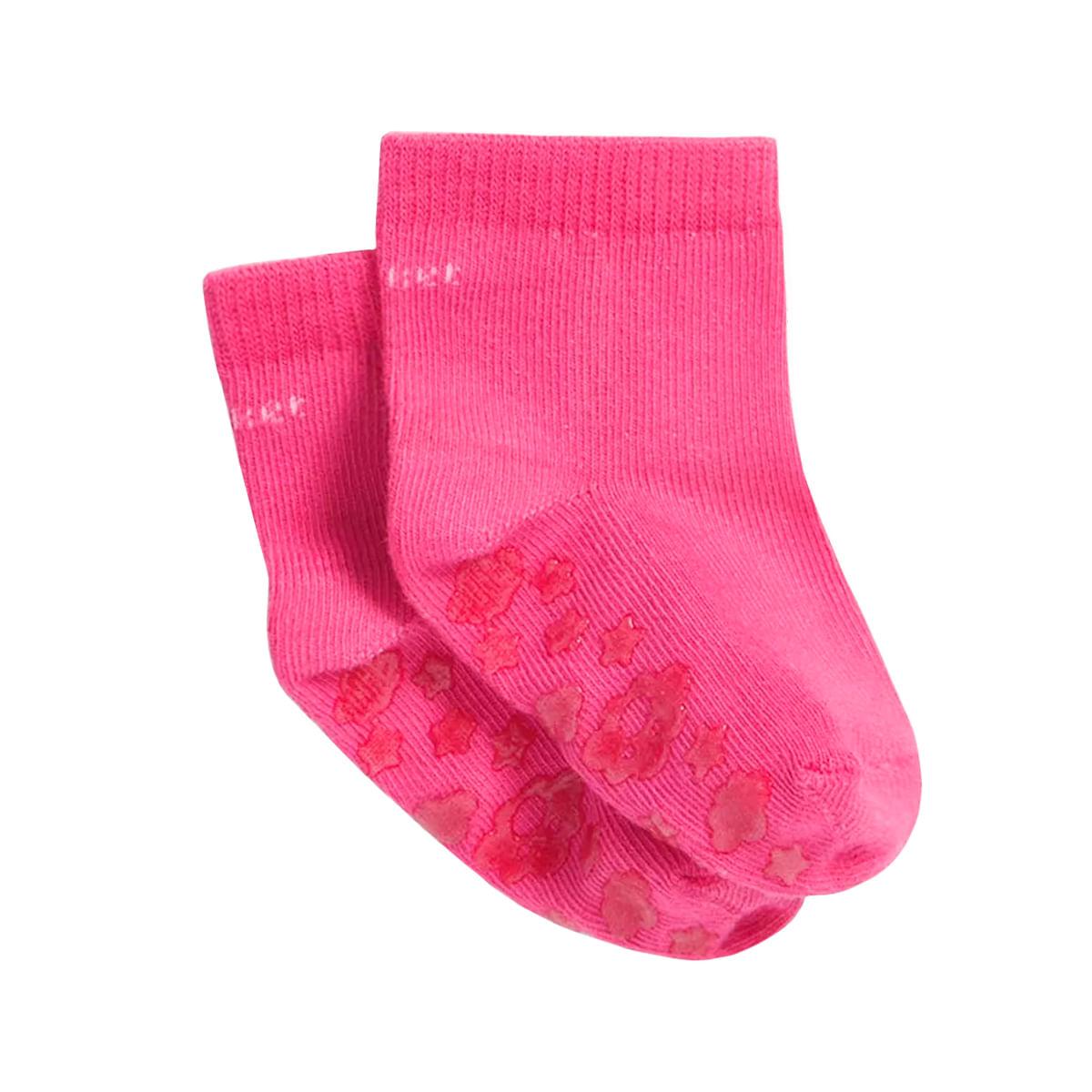 a8f8cb787 Meia Soquete Antiderrapante Pink Puket no Bebefacil