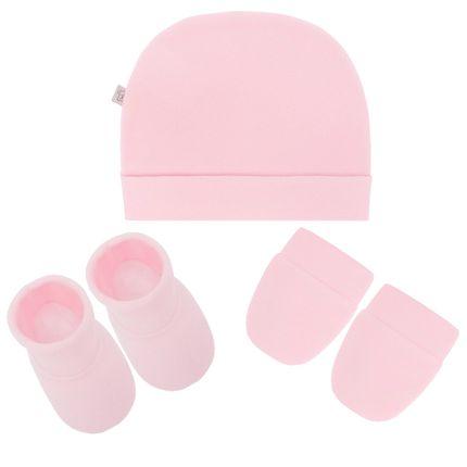 PL65798r_A-moda-bebe-menino-acessorios-kit-touca-luva-sapatinho-em-soft-rosa-Pingo-Lele-no-Bebefacil-loja-de-roupas-e-enxoval-para-bebes