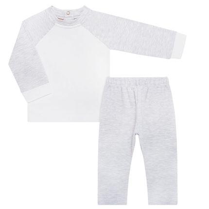 NUT200.01_A-moda-bebe-menina-menino-pijama-repelente-blusa-longa-calca-em-cotton-branco-mescla-Nutti-no-Bebefacil-loja-de-roupas-e-enxoval-para-bebes