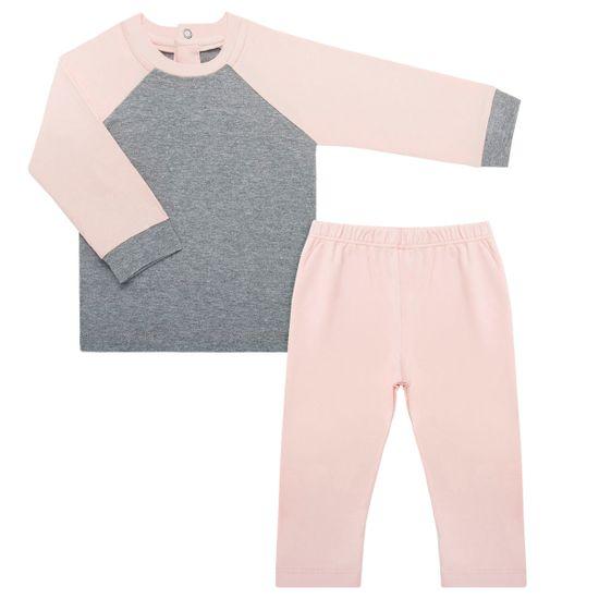 NUT200.02_A-moda-bebe-menina-pijama-repelente-blusa-longa-calca-em-cotton-rose-mescla-Nutti-no-Bebefacil-loja-de-roupas-e-enxoval-para-bebes