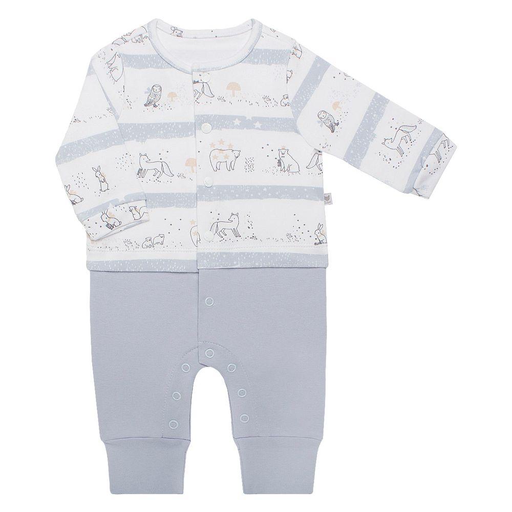 Macacão longo para bebê em algodão egípcio Snow Flake - Bibe no Bebefacil 7067ccef345f5