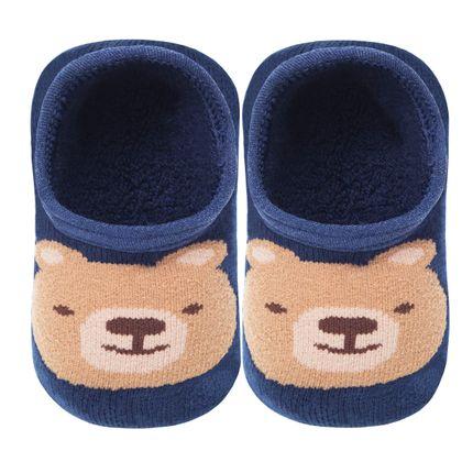 LK044.323_A-Moda-Menino-Meia-Sapatilha-Baby-Urso-Marinho---Leke-no-Bebefacil-loja-de-Roupas-e-Enxoval-para-bebes