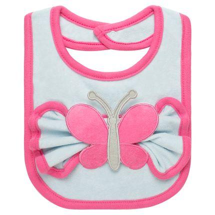 BBT0003_A-enxoval-e-maternidade-bebe-menina-babador-com-fraldinha-de-boca-em-atoalhado-borboleta-classic-for-baby-no-Bebefacil-loja-de-roupas-e-acessorios-bebes
