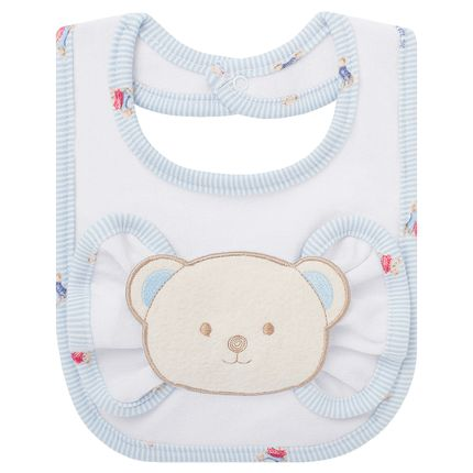 BAO1291_A-enxoval-e-maternidade-bebe-menino-babador-com-fraldinha-de-boca-em-atoalhado-kody-bear-classic-for-baby-no-Bebefacil-loja-de-roupas-e-acessorios-bebes