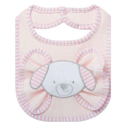 BAO1382_A-enxoval-e-maternidade-bebe-menino-babador-com-fraldinha-de-boca-em-atoalhado-cachorrinha-classic-for-baby-no-Bebefacil-loja-de-roupas-e-acessorios-bebes