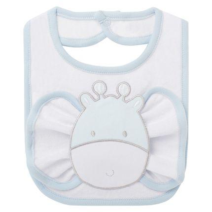 BAO1456_A-enxoval-e-maternidade-bebe-menino-babador-com-fraldinha-de-boca-em-atoalhado-cute-giraffe-classic-for-baby-no-Bebefacil-loja-de-roupas-e-acessorios-bebes