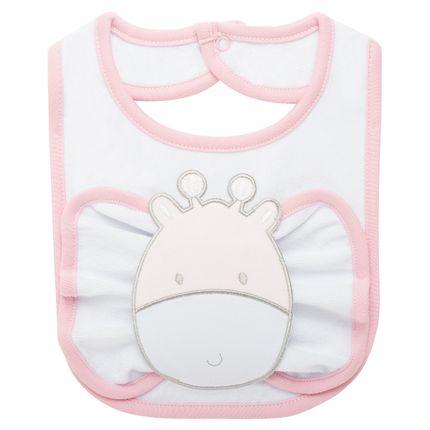 BAO1457_A-enxoval-e-maternidade-bebe-menino-babador-com-fraldinha-de-boca-em-atoalhado-sweet-giraffe-classic-for-baby-no-Bebefacil-loja-de-roupas-e-acessorios-bebes