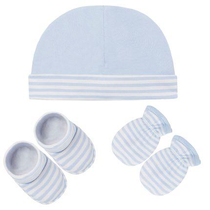 E11407_A-moda-bebe-menino-kit-touca-luva-sapatinho-em-suedine-little-dreamer-azul-no-bebefacil-loja-de-roupas-enxoval-e-acessorios-para-bebes