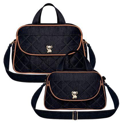 BAJ9091-BGJ9091-A-Bolsa-Maternidade-Asturias---Bolsa-Termica-Galicia-Golden-Denim-Camurca---Classic-for-Baby-Bags