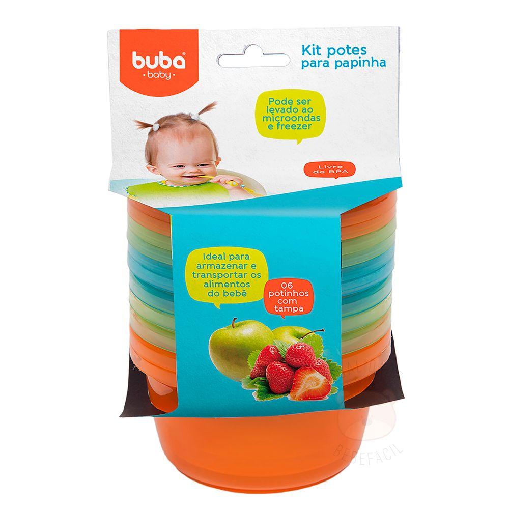 BUBA6758-A-Kit-Potes-Papinha-c-tampa-para-bebe-Colors-Boy--6un----Buba