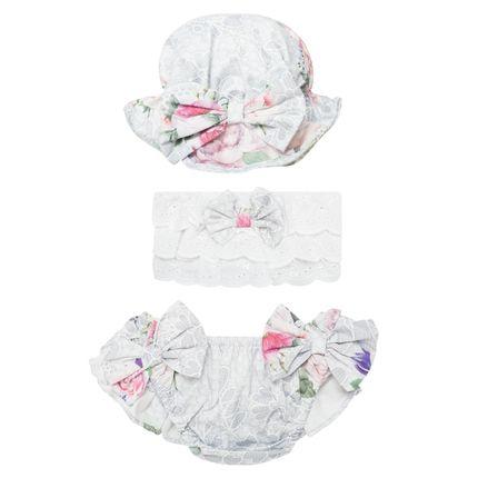 00715400036_A-moda-bebe-menina-praia-conjunto-banho-calcinha-bumbum-top-chapeu-tricoline-flora-roana-no-bebefacil-loja-de-roupas-enxoval-e-acessorios-para-bebes