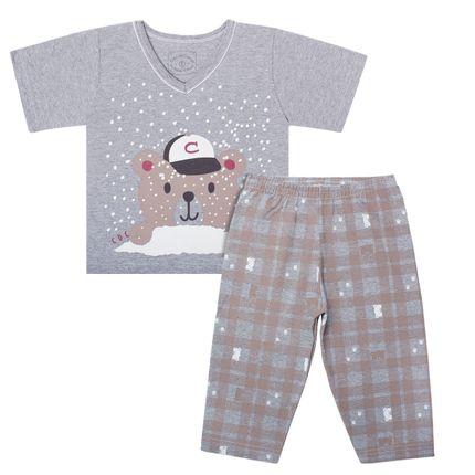C3617_A-moda-bebe-menino-menina-pijama-curto-em-malha-mescla-snow-bear-cara-de-crianca-no-bebefacil-loja-de-roupas-enxoval-e-acessorios-para-bebes