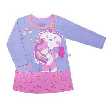 CAML3605_B-moda-infantil-menina-camisola-faixa-em-maha-brilha-no-escuro-unicornio-cara-de-crianca-no-bebefacil-loja-de-roupas-enxoval-e-aceeorios-para-bebes