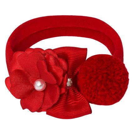09650045007_A-moda-bebe-menina-acessorios-faixa-de-cabelo-meia-recem-nascido-flor-laco-pompom-vermelha-roana-no-bebefacil-loja-de-roupas-enxoval-e-acessorios-para-bebes